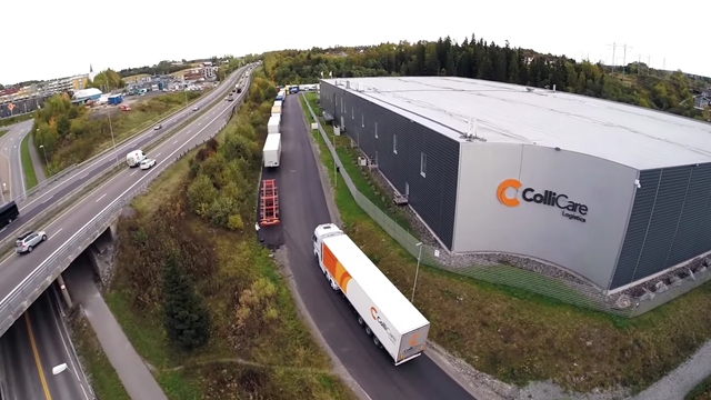 Webplattform for ColliCare Logistics